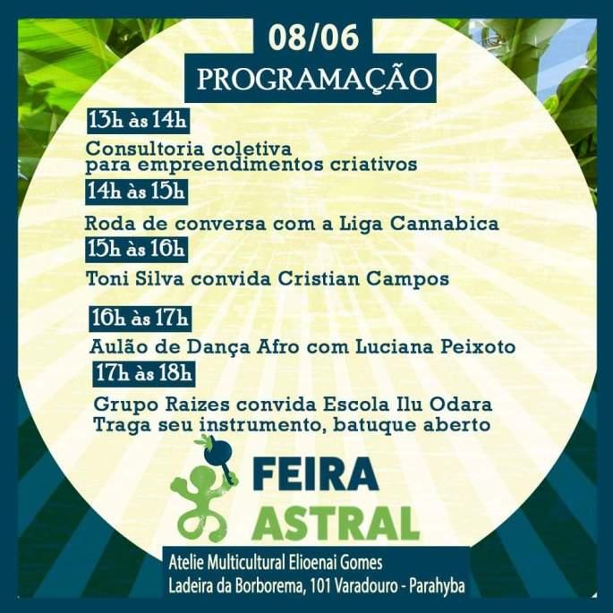 feira astral - programação 2